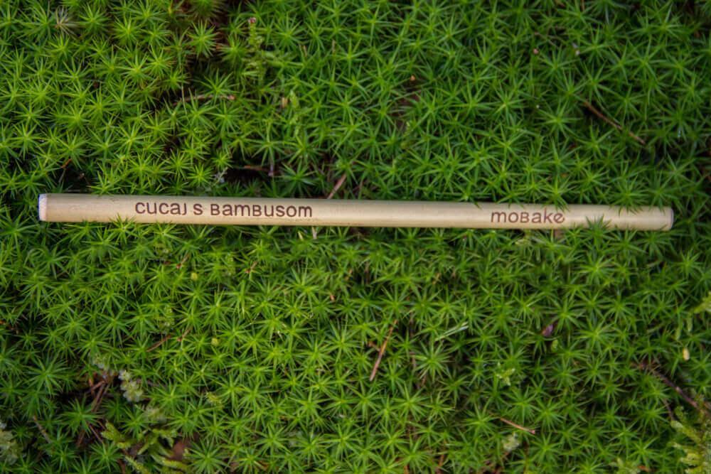 Bambusová slamka 1 ks