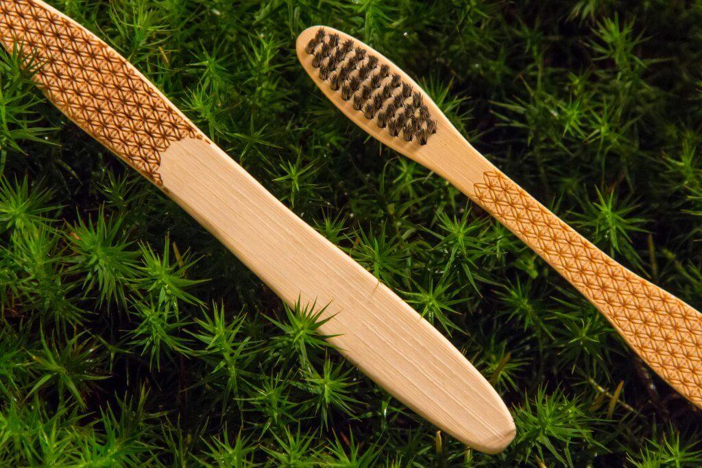 Bambusová kefka Kvet Života