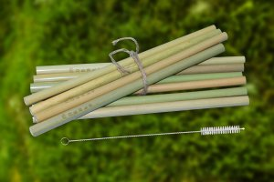 Bambusové slamky 10ks