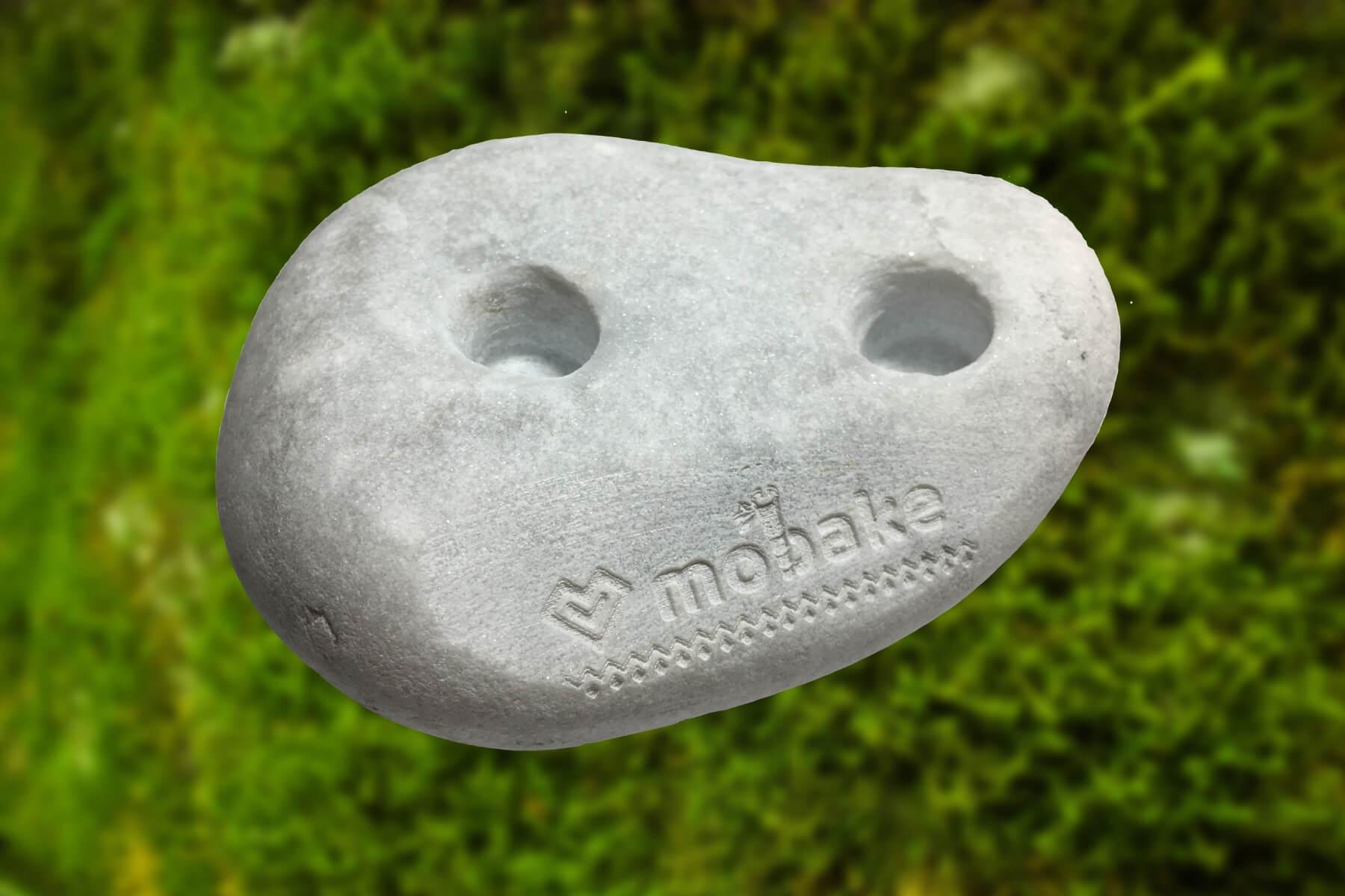 Mobake Kamenný stojan na Kefky biely | 2 dierky | 1 ks