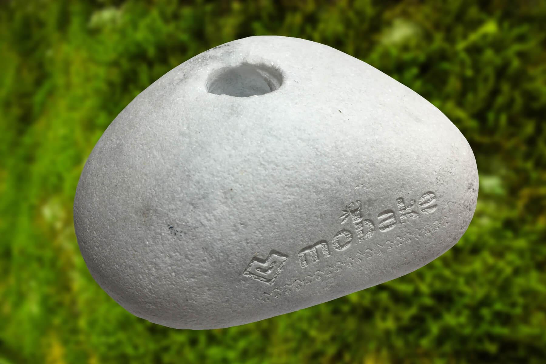 Mobake Kamenný stojan na Kefky biely | 1 otvor | 1 ks