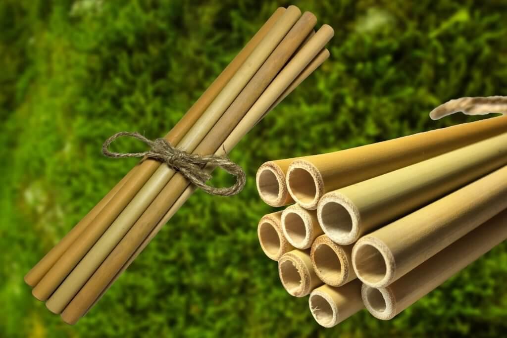10x Bambusové slamky