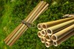 Bambusové slamky 10ks, eko slamky, Mobake
