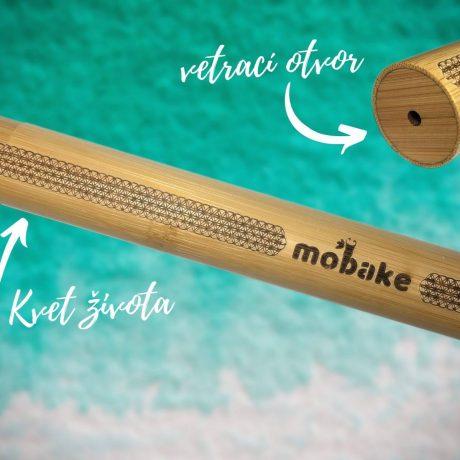 bambusová cestovná tuba kvet života, Cestovná tuba s menom, mobake
