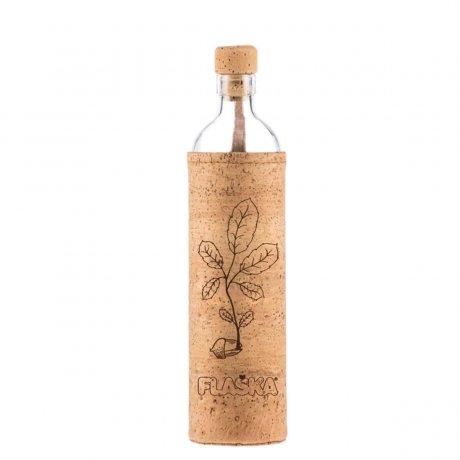 sklenená ekologická Flaska New beginnig, novy zaciatok, mobake