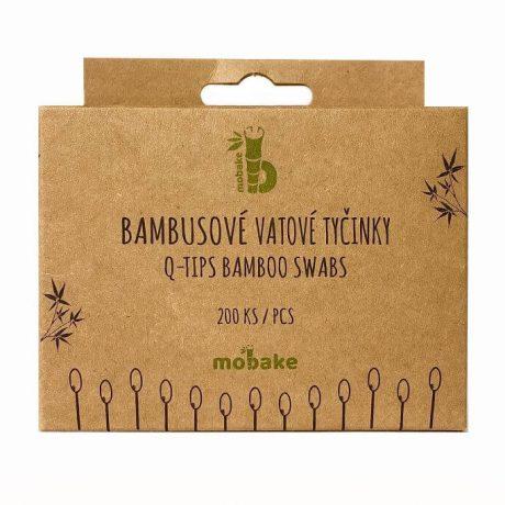 Bambusové tyčinky 200ks Mobake, ekologicka domacnost, 100% vegan, bez zivocisnych zloziek, ekologia