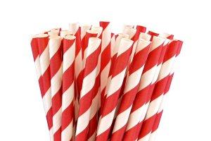 Papierové slamky Červené