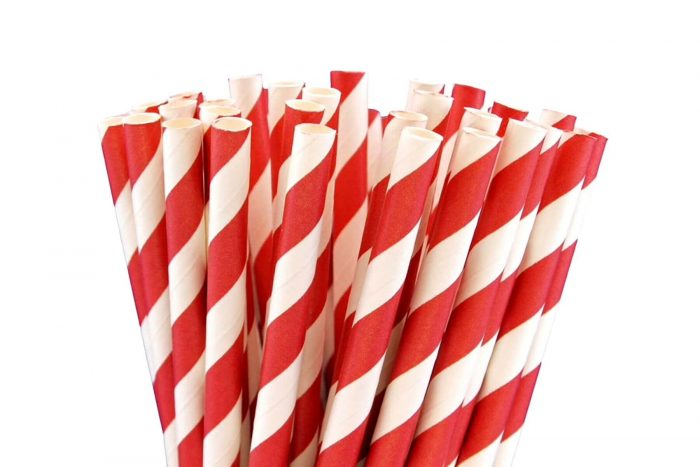 papierové slamky červené red, mobake