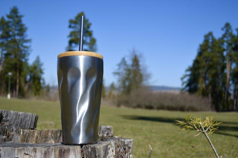 Nerezový pohár 470 ml, mobake