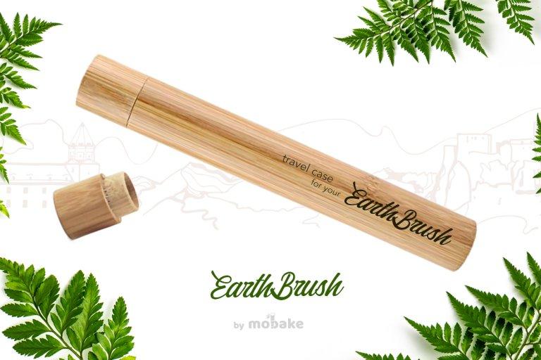bambusová cestovná tuba, tuba earthbrush, mobake, travel case, bamboo travel case, mobake cestovna tuba, bamboo toothbrush tube