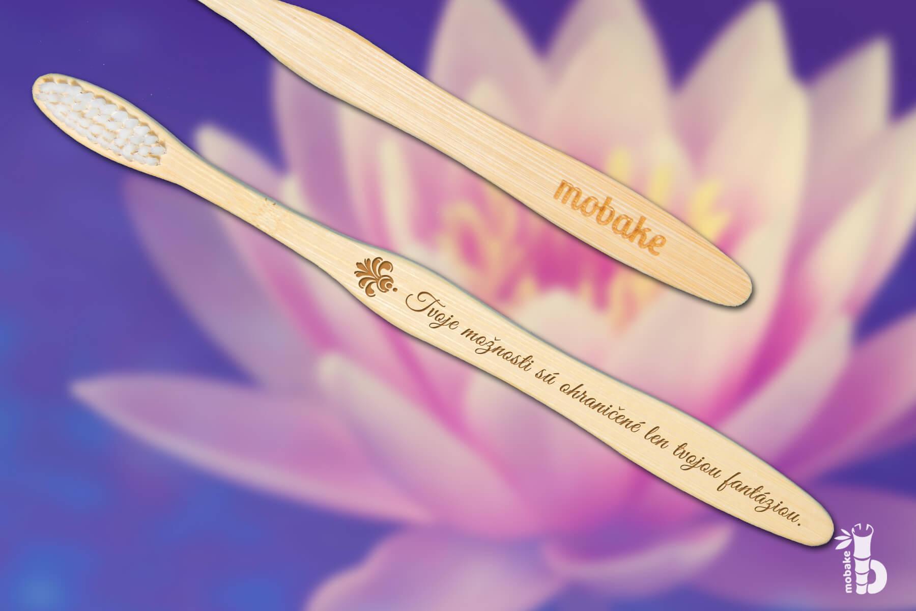 MOBAKE Motivačná Kefka® | Tvoje myšlienky sú ohraničené len tvojou fantáziou | Extra Soft 3010 | 1 ks