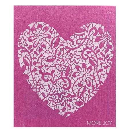 MoreJoy utierka srdce ružové, prirodna utierka, kompostovatelna utierka