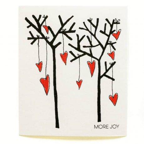 MoreJoy utierka stromy a srdcia, prirodna utierka