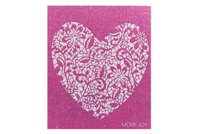 MoreJoy rozložiteľná utierka Ružové srdce
