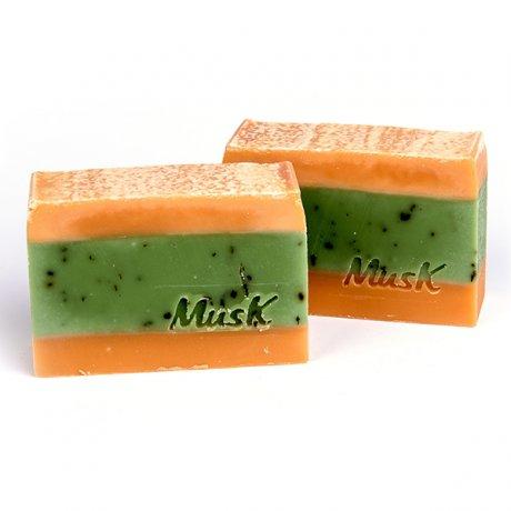 Musk prírodné mydlo Pomarančová sviežosť, mydlo pre veganov, veganske mydlo, bio mydlo