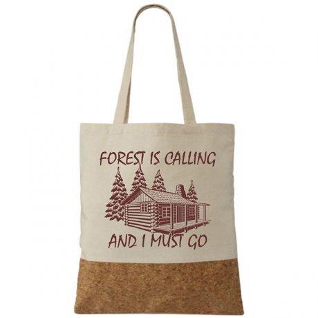 taška s korkom, Korková taška forest is calling