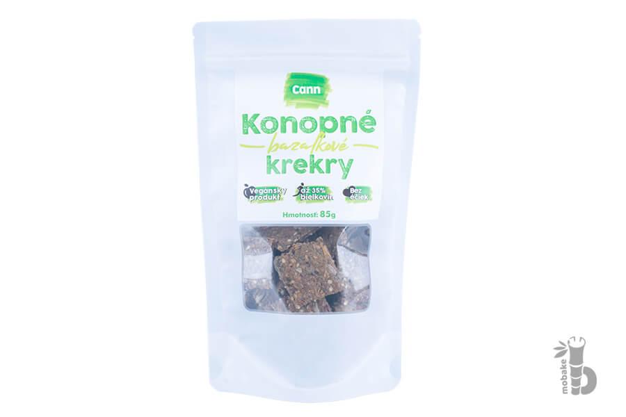 CANN Konopné krekry bazalkové 85 g