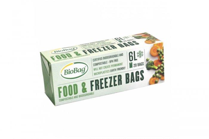 Kompostovateľné vrecko na mrazenie potravín