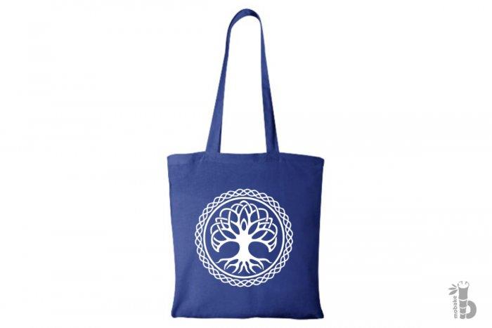 Plátená taška Strom života modrá