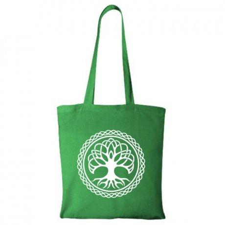 Plátená taška Strom života zelená