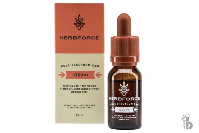Herbforce CBD olej full spectrum 1350mg Mobake