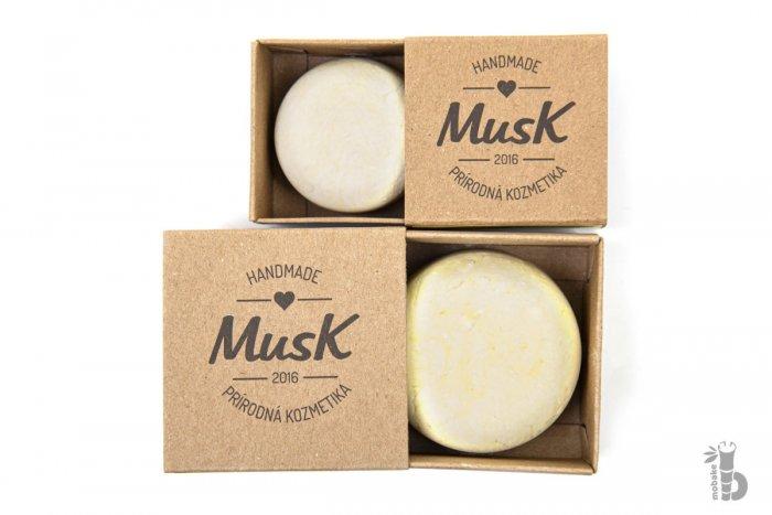 Musk Láskykvet tuhý šampón na jemné vlasy 40g, Mobake