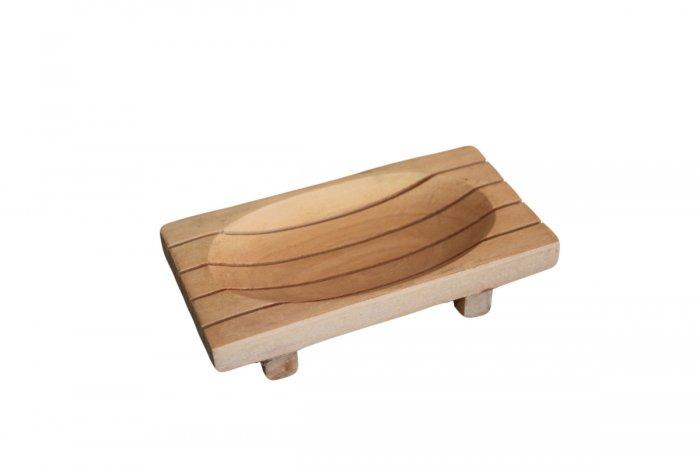 Nádoba na mydlo z dreva Zapota mriežkovaná